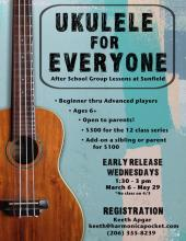 Ukulele for everyone poster