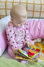 photo of baby reading